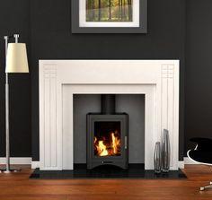 modern wood burning fireplace - Google Search