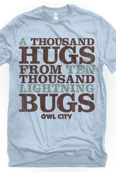 Lightning Bugs (Baby Blue) T-Shirt - Owl City T-Shirts - Official Online Store on District Lines