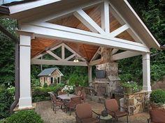 Pergola For Small Patio Outdoor Rooms, Outdoor Living, Outdoor Decor, Outdoor Kitchens, Outdoor Ideas, Patio Roof, Backyard Patio, Pergola Roof, Porches