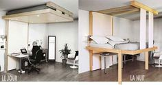 Built Into Ceiling Beds, Space Saving Retractable Beds for Small ...