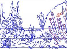 how to draw a coral reef step 7