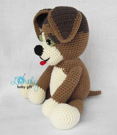 Crochet Pattern Amigurumi Dog Puppy Stuffed от LovelyBabyGift