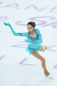 Alina Zagitova of Russia competes during Junior Ladies Short Program on day one of the ISU Junior and Senior Grand Prix of Figure Skating Final at Palais Omnisports on December 2016 in Marseille,. Ice Skating, Figure Skating, Russian Figure Skater, Alina Zagitova, Team Events, Olympic Athletes, Olympic Champion, Women Figure, Winter Olympics