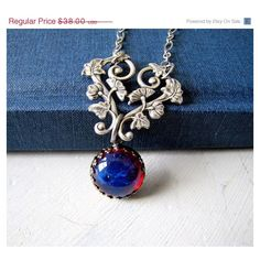 Mothers Day Sale Fire Opal Gothic Necklace Dragon's Breath Victorian... ($34) ❤ liked on Polyvore featuring jewelry, necklaces, chain pendants, vintage necklace, gothic necklaces, jewel necklace and vintage jewelry