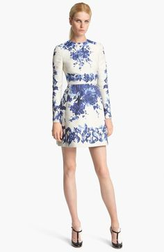 Valentino Long Sleeve Flared Skirt Dress available at #Nordstrom