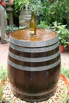 Fountain - but add a bubbler fountain and have it coming out of a champagne bottle. PERFECT!