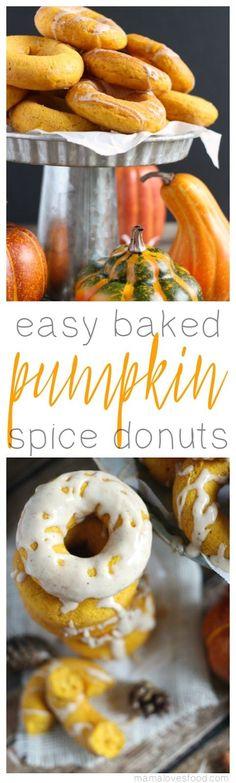 Easy Baked Pumpkin Spice Donuts Recipe with Maple Nutmeg Glaze