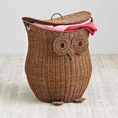 I WANT!! I WANT!! Give a Hoot Owl Hamper   The Land of Nod