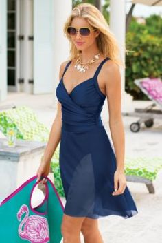 Sarong Swimsuit By Carol Wior from Soft Surroundings $110