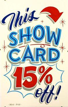 This Show Card 15% Off - bestdressedsigns.com