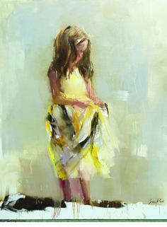 "Susie Pryor's painting ""Because of You."""