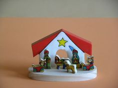 "Little Nativity 1.75"" tall hand made in El Salvador!"