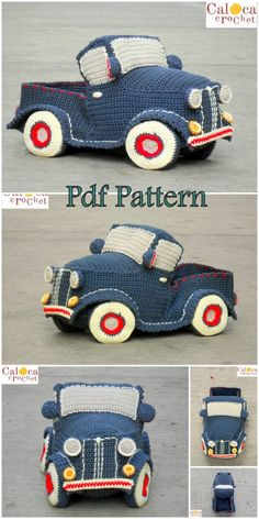 We continue to provide you with the latest recipes related to Amigurumi. Amigurumi classic car free crochet pattern is waiting for you. Crochet Car, Crochet Cross, Love Crochet, Crochet For Kids, Crochet Round, Octopus Crochet Pattern, Crochet Patterns Amigurumi, Crochet Motif, Crochet Dolls