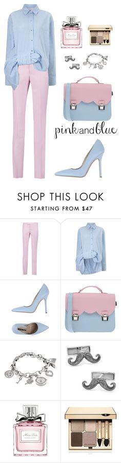 """pink*blue"" by irina135 ❤ liked on Polyvore featuring Giambattista Valli, Victoria, Victoria Beckham, Norma J.Baker, La Cartella, Anne Klein, Cufflinks, Inc., Christian Dior, Clarins, women's clothing and women's fashion"