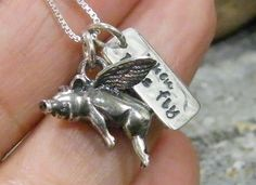 When Pigs Fly Necklace. Love!