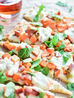 Sweet Potato and Cheese Flatbread