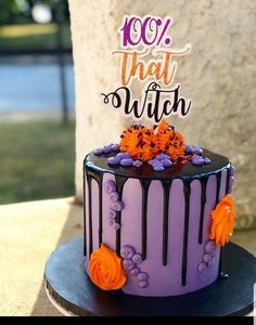 that witch, That witch,Witch cake topper Halloween Baking, Halloween Desserts, Halloween Treats, Halloween Party, Halloween Birthday Cakes, 13 Birthday Cake, Adult Birthday Cakes, Wife Birthday, Birthday Quotes