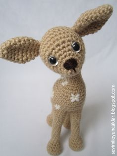 Amigurumi Baby Fawn Pattern by Ulku Akcam, Denizmum on Etsy BUY only, not a freebie but loving the shape xox