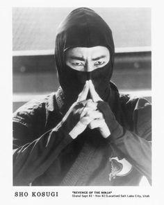 Promo screen shot of Sho Kosugi for 1982's Revenge of the Ninja. This was during…