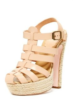 Red Valentino Caged Espadrille Sandal by MSA Haute Couture Inc. on @HauteLook