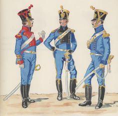 Naples; Line Infantry, Regimental Artillery Companies, 2nd Line, Sergeant Major, 3rd Line, Sous Lieutenant & 1st Line. Lieutenant commanding the Artillery Company, 1813-15 by H.Boisselier