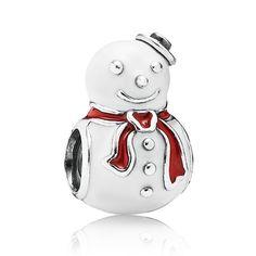 PANDORA Happy Snowman Enamel Charm