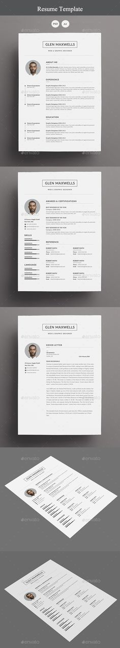 Resume - #Resumes Stationery Download Here:  https://graphicriver.net/item/resume/19956356?ref=suz_562geid