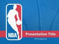 NBA PPT Template with NBA Logo
