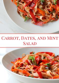 Carrot, Dates, and Mint Salad - Easy,Refreshing salad with Warm Spices such as Cinnamon, Cumin, and sweetness from Dates!