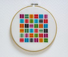 Colorful Squares Modern Cross Stitch Pattern PDF, Instant Download, Geometric Cross Stitch, Simple Cross Stich, Modern Embroidery Pattern