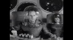 "Helge Legrelle (Ursula Lillig) running short of air in her spacesuit in the 1966 Raumpatroille Orion Episode ""Hüter des Gesetzes"""