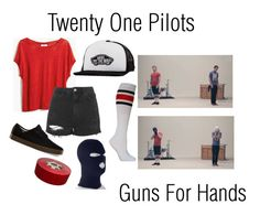 """""""Twenty One Pilots- Josh Dun // Guns For Hands"""" by oh-my-cashtael ❤ liked on Polyvore featuring Vans, Madewell and Topshop"""