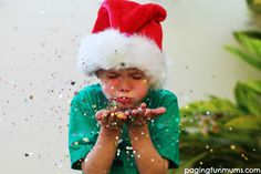 Awesome Blowing Glitter Christmas Photo Idea!