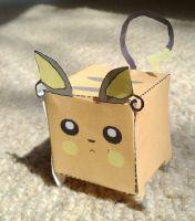 Raichu Papercraft Cube by CharrChan