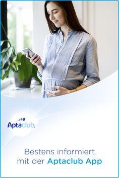 Aptaclub begleitet dich: In unserer kostenlosen Schwangerschafts-App findest du nicht nur Checklisten, Informationen und Tipps, sondern auch einen Wehen-Timer. App, Women, Fashion, Pregnancy, Moda, Women's, Fashion Styles, Woman, Fasion