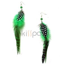 Make Long Feather Earrings | Wearing Colorful Feather Earrings in this summer could be fun and ...