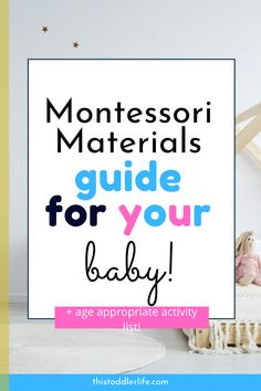 This Montessori materials guide for your baby is perfect for deciding which material you should give your baby next! baby breastfeeding baby infants baby quotes baby tips baby toddlers List Of Activities, Montessori Activities, Indoor Activities, Infant Activities, Montessori Baby, Activity List, Baby Next, Mom And Baby, Baby Care Tips