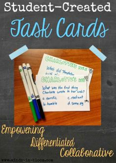 Kid-Created Task Cards! | Minds in Bloom