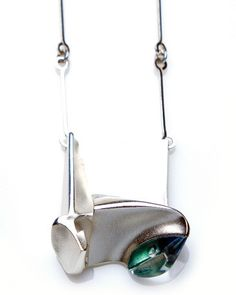 Björn Weckström for Lapponia Jewelry, Monolith Silver Necklace. #Finland