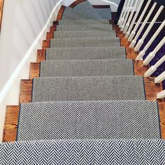 Navy Carpet On Stairs navyblueherringbonecarpet httpscarpetworkroomcom Source: website set tape carpet stair treads navy blue Source: . Navy Stair Runner, Staircase Runner, Stair Runners, Carpet Diy, Modern Carpet, Carpet Ideas, Grey Carpet, Cheap Carpet, Hall Carpet