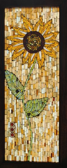 Mosaic Stained Glass Sunflower | Mosaic stained glass sunflo… | Flickr