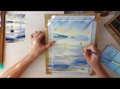 Мастер-класс #25 Морской пейзаж акварелью. - YouTube