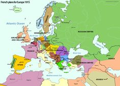 Ideas of post-WW I-Europe by French extremists