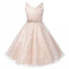 Cheap sequin girls dress, Buy Quality girls dress directly from China party for girls Suppliers: New Year Sequins Girl Dress+Belt Sleeveless Princess Lace Dress V Neck Baby Girls Vestido Christmas Party For Girls Clothes