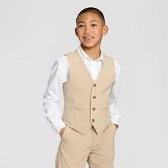 8d0b3fe539 Boys  Suit Vest Desert Tan - WD.NY Black