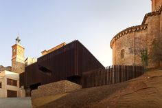Image 12 of 29 from gallery of Almazan Main Square / ch+qs arquitectos. Photograph by Fernando Guerra Brick Architecture, Historical Architecture, Contemporary Architecture, Amazing Architecture, Landscape Architecture, River Pictures, Amazing Buildings, Building Facade, Built Environment