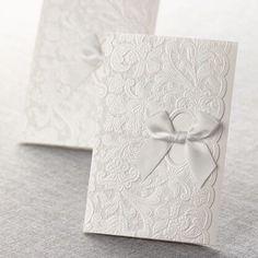Elegant pocket fold wedding stationery by B Wedding Invitations