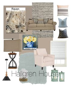 """Hallgren House"" by blessed-cre8ivity on Polyvore featuring interior, interiors, interior design, home, home decor, interior decorating, Safavieh, JCPenney Home, Oliver Gal Artist Co. and Shades of Grey by Micah Cohen"
