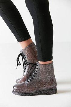 Urban Outfitters Aura Glitter Rain Boot   #ad