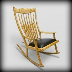 Handmade Rocking Chairs Tablet Arm Chair 33 Best Canadian Collection Images Afghans Curly Birch Padded Handcrafted From Solid One Of The Finest You